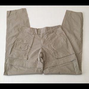 Cabelas Outdoors Khaki Size 12 Pants Zip Off Short